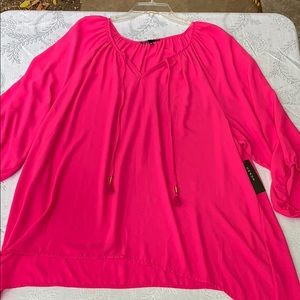 Chaus Pink Top NWT. Size XL